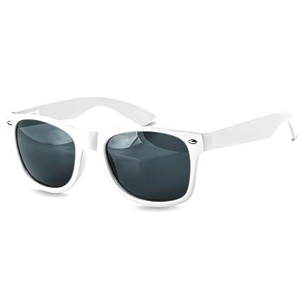 CASPAR PREMIUM Unisex klassische Wayfarer Brille / Sonnenbrille - viele Farbkombinationen - SG020, Farbe:kpl. matt schwarz / gold verspiegelt