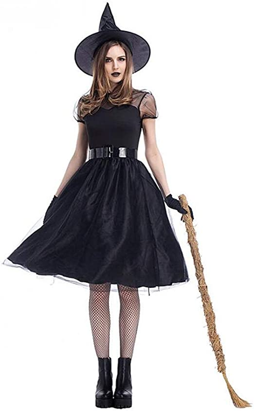 JOMA E-Shop - Disfraz de Bruja para Mujer de Halloween, bruñido ...