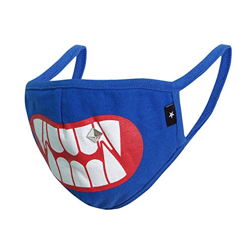 COOTERBOY Graphic Mask Unisex Fashion Antidust Face Mouth Mask Muffle Flu Surgical Washable Warm Reusable Ski Cycling Multiple Mask (Monster -