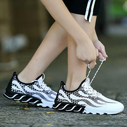 No.66 Ville Hommes Légères Chaussures De Course Décontractées Mode Amateurs Sneaker # 3 Blanc (feu)