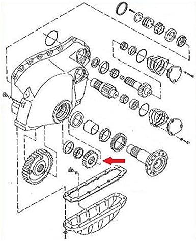 T105459 Final Drive Idler Gear 41 Teeth Fits John Deere 550g 650g