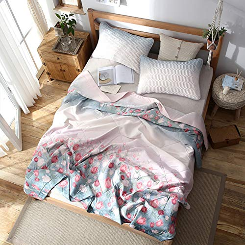 Youlubedding Summer Air Conditioning Quilt, Nordic Simple Natural Emulsion Ice Silk Quilting Cool Quilt, 200230CM ()