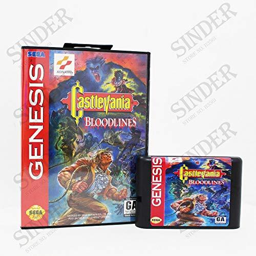 - Value★Smart★Toys - Castlevania Bloodlines NTSC-U Boxed Version 16bit MD Game Card for Sega Mega Drive and Genesis