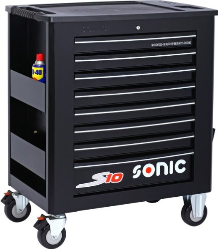 sonic 739009 filled tool trolley s10, black, set of 391: .co ...