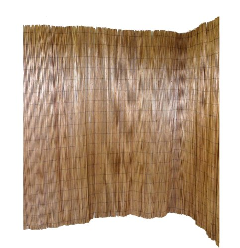 Master Garden Products Peeled Willow Screen Fence, 6 by 8-Feet, Light Mahogany Color