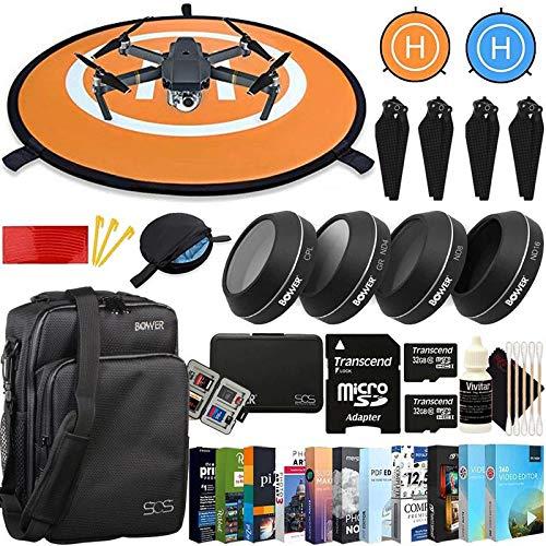 Vivitar Drone Landing Pads, Waterproof 30'' Universal Landing Pad forfor DJI Mavic Pro UV ND4 ND8 ND16 + 4-Piece 4K Filter Kit + Sidekick Bag + Drone Accessory Kit