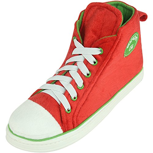 Slippers Outdoor amp;Green Indoor Christmas Gohom Sneaker Winter High Top Mens Red Warm wqIfFPzH