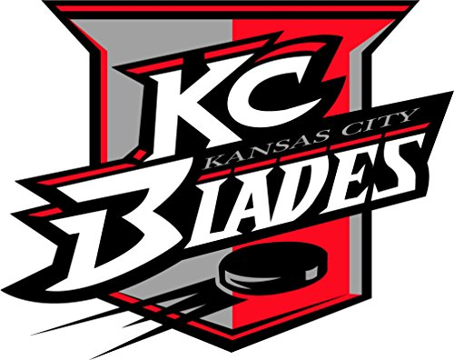 skyhighprint - Kansas City Blades Hockey Logo Decor Vinyl Print Sticker 14'' X 11'' ()