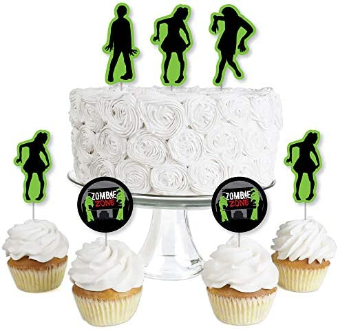 Zombie Zone Dessert Cupcake Toppers