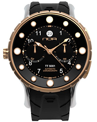 Noa Watch Gents TTS 001 Black Silicone Band