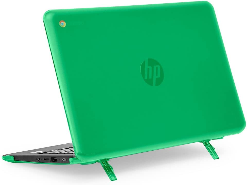 "mCover Hard Shell Case for 11.6"" HP Chromebook 11 G6 EE / G7 EE/ 11a-NBxxxx laptops (NOT compatible with pre-2018 HP C11 G4EE / G5EE) (HP C11 G6EE Green)"