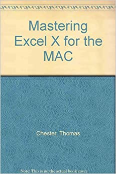 Book Mastering Excel X for the MAC