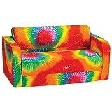 Comfy Kids - Polyester Kids Flip Sofa (Multi-colour Tie-Dye)