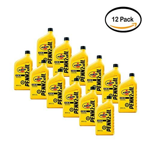 PACK OF 12 - Pennzoil Conventional 5W30 Motor Oil, 1-quart b