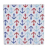 Heart of America Nauti Anchors Printed Napkin - 6 Pieces