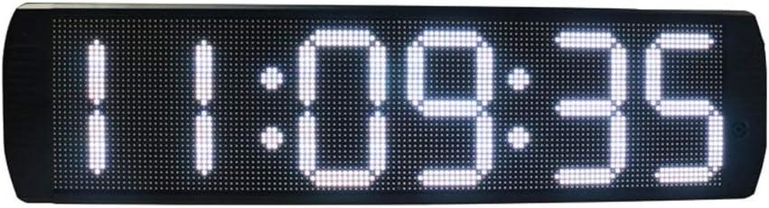 スポーツタイマー デ カウントダウンクロック 大型デジタル時計多機能カウントダウンタイマー片面LEDモーションクロノグラフ時計と体育館教室病院オフィス用赤外線リモコン (色 : ブラック, サイズ : 73.5X18.8X4.5CM) ブラック 73.5X18.8X4.5CM