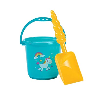 RAINBOW BUCKET WITH UNICORN SHOVEL - Toys - 12 Pieces: Toys & Games