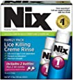 Nix Lice Killing Creme Rinse, Family Pack - Maximum Strength Creme Rinse Kills Lice and Eggs While Preventing Re-Infestation - 2x2-Ounce Bottles