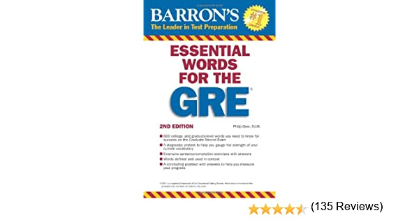 Amazon.com: Essential Words for the GRE (Barron's GRE ...