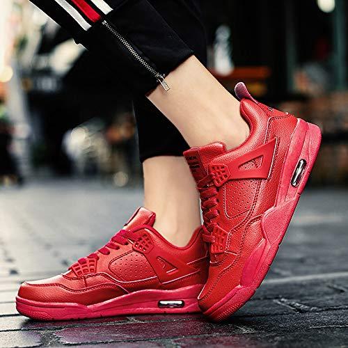 Nero Sneakers Inverno lacci donna PU Rosso Scarpe rotonda Punta Scarpe da ZHZNVX White poliuretano Comfort corsa Bianco da 4WqBZxCnWw