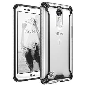 Poetic Affinity Slim Fit LG K20 Plus / LG K10 2017 / LG LV5 / LG Harmony /LG K20 V Case With Anti-Slip Side Grip and Reinforced Corner Protection Bumper for LG K20 Plus / LG K10 2017 / LG LV5 (Black)