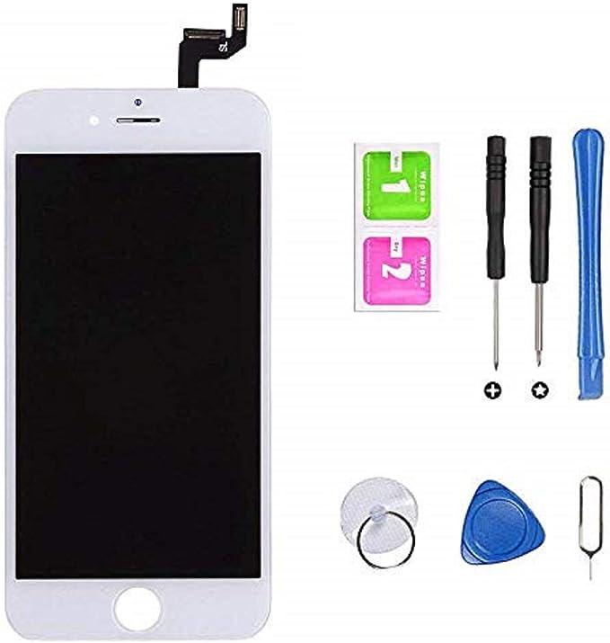 Hoonyer Pantalla para iPhone 6s Pantalla táctil LCD Kit de Pantalla de Repuesto Ensamblaje de Marco Digitalizador Herramienta de reemplazo de ...