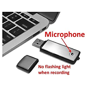 Best Sound Recorder |Digital Voice Recorder |Simple USB Dictaphone | Audio Recording Device | Portable Small Music Recorder | 8GB Flash Drive | Sensitive Microphone | Easy File Transfer