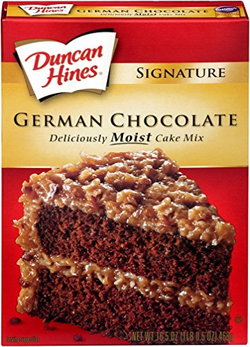 Duncan Hines Moist Deluxe Cake Mix German Chocolate 1625 Ounce Pack of 6
