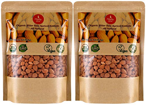 Organic Bitter Apricot Kernels(1LB) 16oz, Natural Raw USDA Organic Bitter Apricot Seeds, Vegan, Non-GMO, Gluten Free, Great source of Vitamin B17 and B15 (2 Pack) by Mighty Apricot (Image #6)