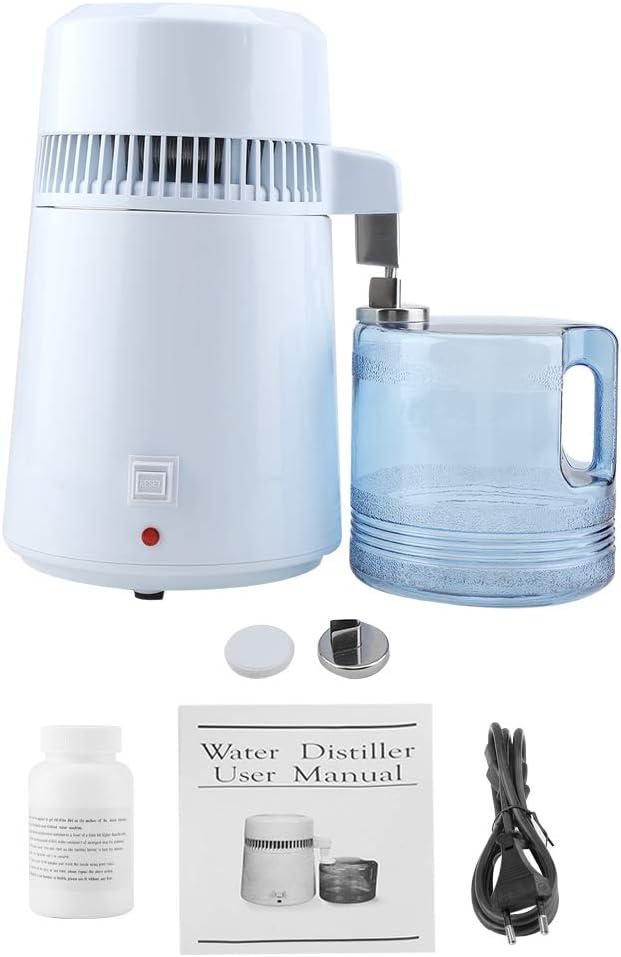Detiladora de agua eléctrica destiladora de agua pura máquina de acero inoxidable vapor agua destilada para Home Countertop plancha de vapor 4L EU 220V: Amazon.es: Hogar