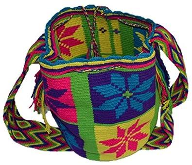 Bolso Colombiano Wayuu Autentico Algodón Salvaje Multi: Amazon.es: Zapatos y complementos