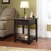 Sauder Edge Water Side Table in Estate Black