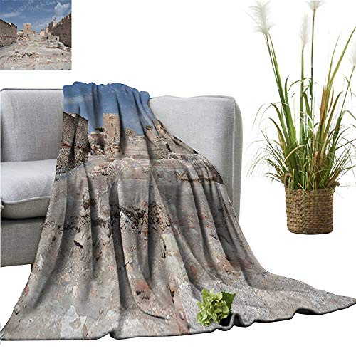 (YOYI Warm Blanket alcazaba Fortress in almeria Winter Lightweight Thermal Blankets for Couch Bed Sofa 35