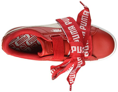 da Patent Basket Basse Scarpe White Red Puma Donna Heart Wn's Ginnastica xqESgFXw