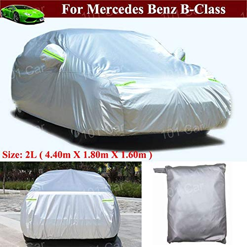 Durable Waterproof/Windproof / Dustproof/Scratch Resistant Full Car Cover SUV Cover Vehicle Cover Sun Outdoor UV Protection Car Cover for Mercedes Benz B-Class 2013 2014 2015 2016 2017 2018 2019