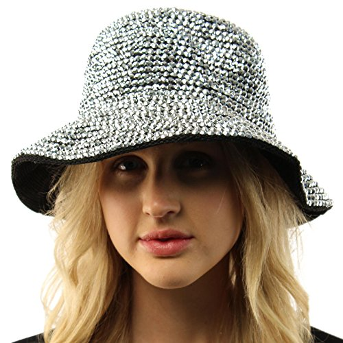 Ultimate Bling Bling Rhinestone Sparkle Hip Hop Gangsta Rapper Bucket Hat Cap (Bling Ultimate)