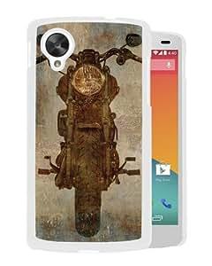 Individual Design Phone Case Vintage motorcycle White Popular Sale Google Nexus 5 Phone Case