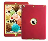 """2018 Ipad Case For iPad 9.7"""" 2018/2017 Release Also Fit For iPad Air 1st 2013 Release Models A1893 A1954 A1822 A1823 A1747 A1475 MR6Y2LL/A MR7C2LL/AA MRM82LL/A MRJN2LL/A MRJP2LL/A Red/Green"""