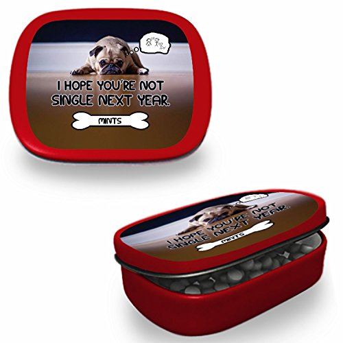 I Hope You're Not Single Next Year Mints – Funny Valentine's Day Gift – Gifts for Singles – Funny Mint Tins - Stocking Stuffers for Single Friend – Chocolate Mints (Next Day Valentines Gifts)