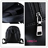 This school bag is much more suitable for kindergarten children/ Remarkable For Pine Tree Under The Moon Theme Black or White Children Backpacks,PU Leather