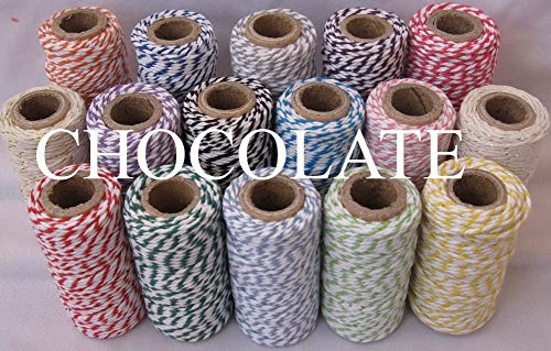 FINCOS 37 Kind Color Cotton Baker Twine (22yard/Spool) Halloween Cotton Divine Twine(100pcs/lot),Packing String