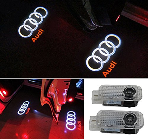 Grolish Car Door LED Lighting Entry Ghost Shadow Projector Welcome Lamp Logo Light for Audi (Audi A4 Projector)