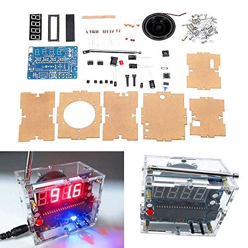 ILS - TEA5767 DC 4.5V-5.5V DIY Mini Digital FM Radio 87MHZ-108MHZ 2W 8ohm Speaker Electronics Kit