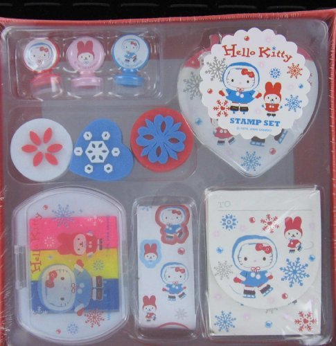 Japanese Sanrio Hello Kitty Stamp Set (Ice Skate)