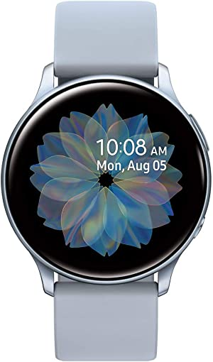 Samsung Galaxy Watch Active 2 (44mm, GPS, Bluetooth) Smart Watch with Advanced Health monitoring, Fitness Tracking , and Long lasting Battery, Silver  (US Version)