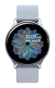 Samsung Galaxy Watch Active2w/ enhanced sleep tracking analysis, auto workout tracking, and pace coaching (40mm), Cloud Silver - US Version with Warranty