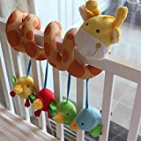 CdyBox Infant Bed Rattle Baby Toys Ring Sound Activity Bed Stroller Hanging Bell Crib Toy with Music Entertainment