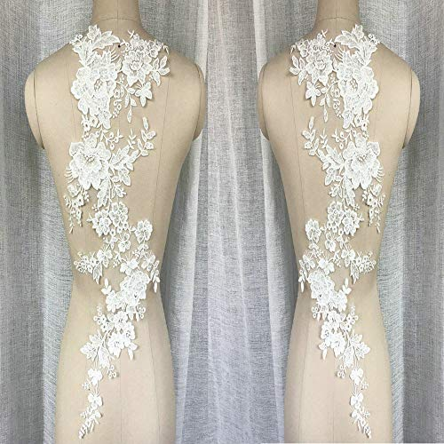 Oversized New Flat Embroidered Lace Rose Flower Flower Stickers Bridal Wedding Dress Children