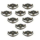 UniDecor 10 Pcs Vintage 73mm X 45mm Crown of Stars Style Dresser Drawer Pulls Handles / Vintage Furniture Knobs Handle,