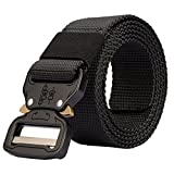 #6: Men's Tactical Belt Heavy Duty Webbing Belt Adjustable Military Style Nylon Belts with Metal Buckle